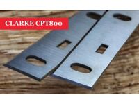 CLARKE CPT800 Planer blades knives - 1 Pair Online