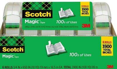 Magic Tape 34 X 650 Inches 6 Rolls