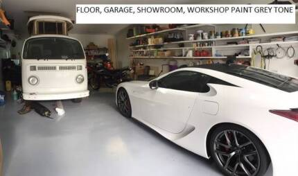 GARAGE PAINT 10 LITRE GREY CAN DRIVE AND PARK CARS ON IT