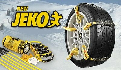 JEKO UNIVERSAL SNOW & MUD BELTS snowbelt winter wheel grips anti slip ice chains