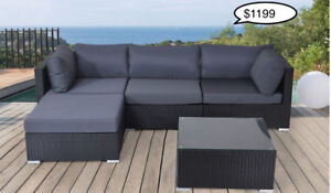Outdoor Aluminum Wicker Patio Sectional Sofa Sets REDUCED PRICES