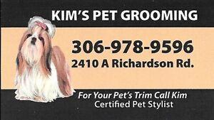 For Your Pet's Trim Call Kim