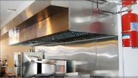 kitchen hood, fire suppression, make up air,commercial hood,