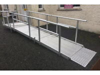 Scooter / Wheelchair Disabled Access Modular Mobility Ramp - Semi Permanent - Height Adjustable
