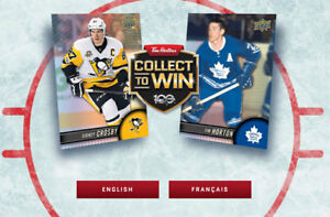 TIM HORTONS 2017-18 Hockey cards ...See List -UPDATED..