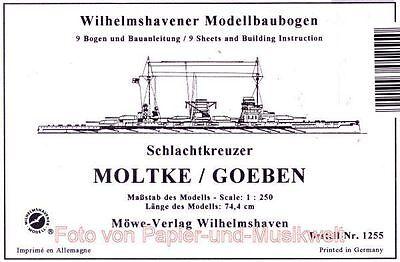 Wilhelmshavener Modellbaubogen 1255 - Schlachtkreuzer Moltke / Goeben - 1:250