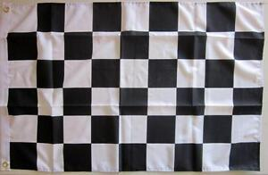 CHECKERED FLAG BLACK AND WHITE CHECKERED FLAG  FREE SHIPPING MOTOR SPORT RACING