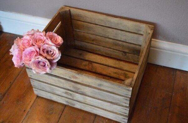 Image 1 of 4 & Wooden Apple Crates - fruit / bushel boxes for storage   in ... Aboutintivar.Com