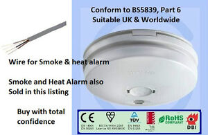 smoke or heat alarm mains battery interlinked hmo bs5839 or alarm wire fire n. Black Bedroom Furniture Sets. Home Design Ideas