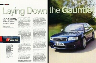 2002 2003 Audi RS 6 RS6 Original Review Report Print Car Article K92