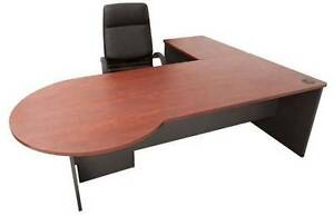 "2 x Conference (meeting) ""P"" end office Desks with returns Arcadia Hornsby Area Preview"