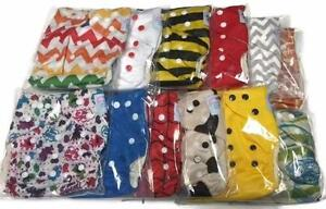 Brand New Cloth Diapering Kits - One-Size Bamboo Diapers, 5-layer Hemp Bamboo Inserts, Pail Liners, Wet Bags, and more!