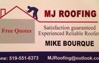 MJ ROOFING EXPERIENCED RELIABLE ROOFERS FREE QUOTE 519-551-6373
