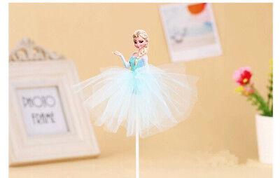 CLEARANCE!!! DISNEY FROZEN CAKE TOPPER FLAG kids party - Elsa in tutu ()