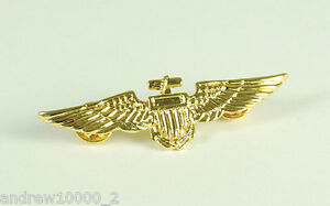 Pilot Badge Aviator Metal Pin Wings Fancy Dress Costume Accessory Top Gun Navy