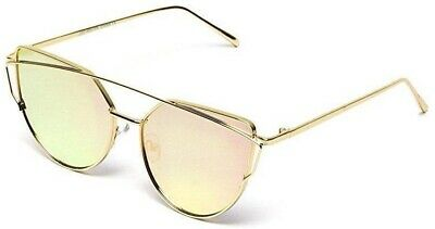 Wear Me Pro Arianna - Brow Bar Frame Cat Eye Sunglasses - Gold Frame/Mirror (Cat Wearing Sunglasses)