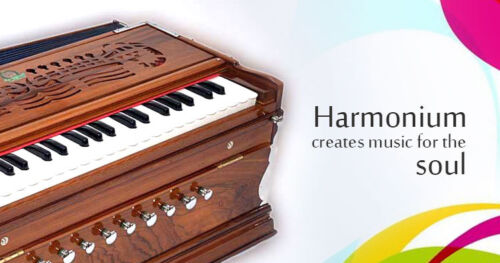 Laying Style Best Harmonium 9 Stopper Chudidaar Bellow 42 Key Two Reed Bass-Male