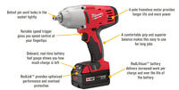 "1/2"" M18 Milwaukee HighTorque Impact Wrench with Battery&Charger"