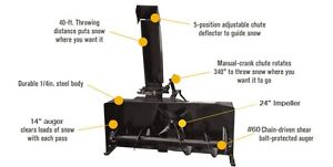 """NEW 3 point hitch SNOW BLOWERS, 50"""" - 80"""" sizes"""