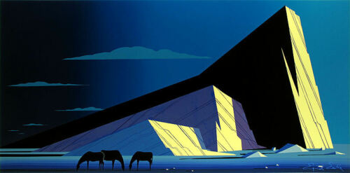 "Eyvind Earle     ""three Horses""    Make  Offer    Dss"