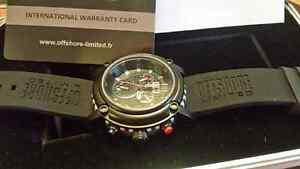 Mens Offshore Limited Ballast Black & Steel watch Chrono New
