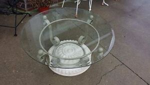 Glass topped coffee table - Blenheim