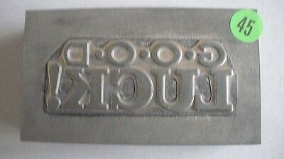 Kwikprint Good Luck Hot Foil Printing Embossing Cast Die
