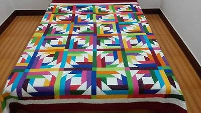 king   size Machine pieced and quilted QUILT#J-49