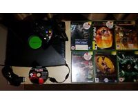 Xbox console bundle with leads, 1 controller and 7 games