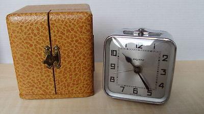 Bayard - travel clock - alarm - chrome case 1935