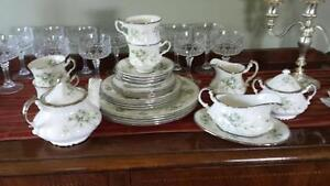 paragon 4 piece tea set and dishes