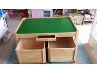 Pintoy Solid Wood Play Table with Drawer 127 x 86 cm