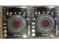 Pair of Pioneer CDJ 1000's MK3 with Deck Savers and CD's