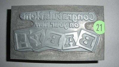 Kwikprint Congratulations In Your New Baby Hot Foil Stamping Cast Die