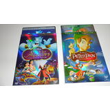 Lot of 2 DISNEY DVDs PETER PAN and ALADDIN Kids Movies - Free 1st class shipping