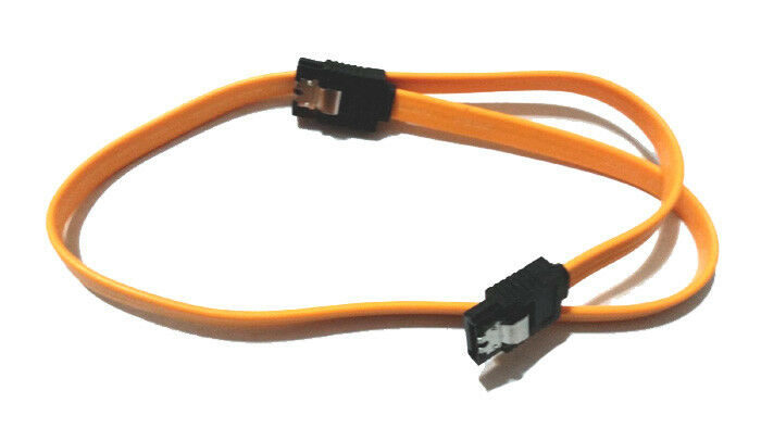 LOT 2x Cable Sata  6GBPS orange  1x angle + 1x droit - 50 cm