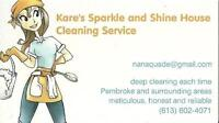 Kare's Sparkle and Shine House Cleaning Service