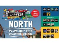 2 Adult CARFEST NORTH Full Weekend Tickets With Camping