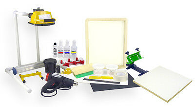 Screen Printing Press One 1 Color1station Heat Gun Exposure Stand Equipment Kit