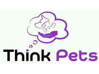Think Pets - Dog walking,dog walker, puppy, cat, small animal visits, pet sitter, pet services