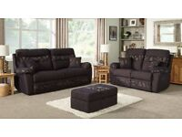 Brand New (never used) SCS Casper Black 3 Seater and 2 Seater Manual Recliner Sofa Set PAID £1600.00