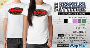 Hespeler _ Always Fresh ! Tim Hortons Spoof shirt.