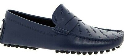 Versace Jeans men's blue driving shoes size 9UK - 100% Leather upper & inner