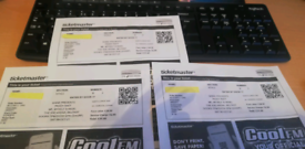 Paddy Raff tickets (3)