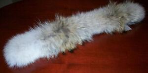 Vraie fourrure de coyote capuchon manteau d'hiver Quartz Nature