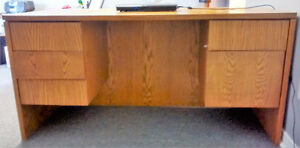 Matching desk and credenza