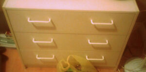 White dresser, three spacious units; great condition!