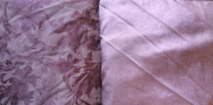 NEW fabric 10 metres solid plum & 4.5 metres sheer patterned