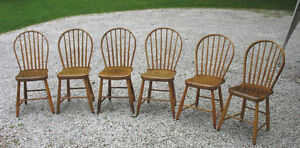 Refinished Antique Chairs & Couple of Farm Tables