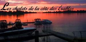 Chalet a louer au superbe Lac ST-Jean, Desbiens fds,sem,+long